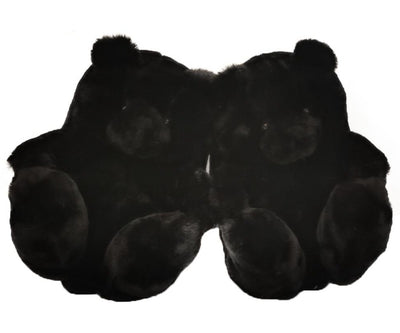 Teddy Bear Plush Indoor warm shoes for winter Anti-slip
