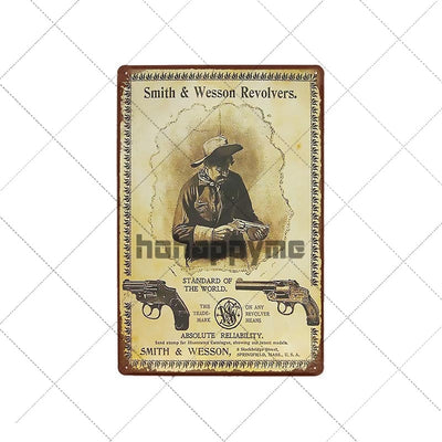 Man cave ideas Wall Art Gun Metal Tin Signs - Goods Shopi