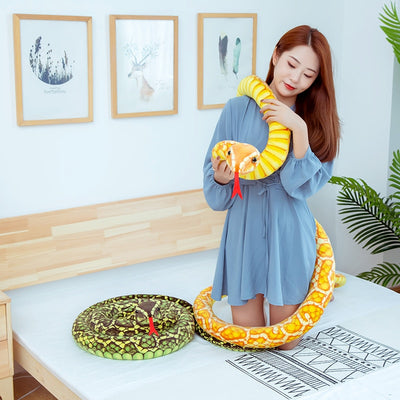 Giant Animal Stuffed Simulation Cobra Python Snake Plush Toys