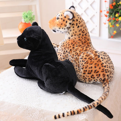 Giant stuffed animals  Black Panther Leopard Yellow White Tiger Plush Toys - Goods Shopi