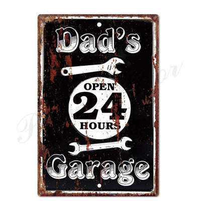 Garage man cave ideas  Metal Tin Wall Decor - Goods Shopi