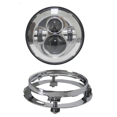"Led Headlight Fog Spot Lamps Chrome 7"" inch - Goods Shopi"