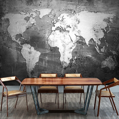 Vintage Mural Wallpaper  World Map - Goods Shopi