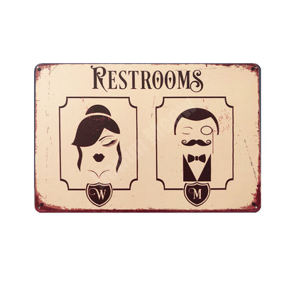 Home decor ideas Retro Metal Signs Toilet Wall - Goods Shopi