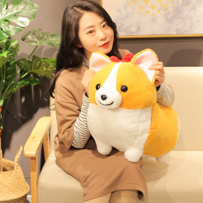 Squishy Kawaii Giant Corgi Dog Plush Toy Stuffed - Goods Shopi