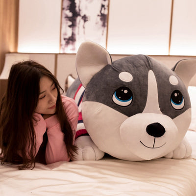 Husky Dog Giant Stuffed Animals  Plush Toy Pillow - Goods Shopi