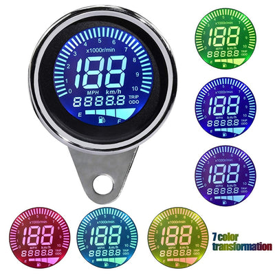 4 in 1 Motorcycle Tachometer Speedometer  Odometer  Gauge Fuel - Goods Shopi