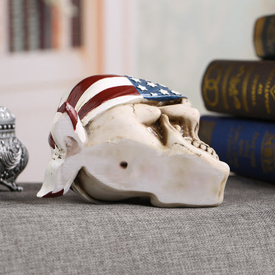 Skull Craft Skeleton  American Flag Home Decorations - Goods Shopi