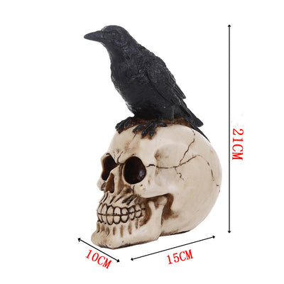 Crow Skull Craft Statues Home Decor - Goods Shopi