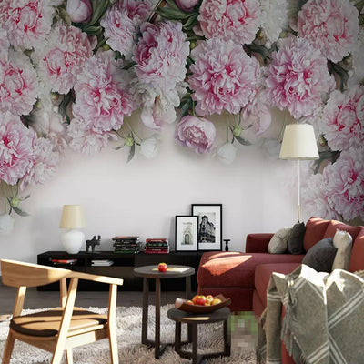 3D Peony flower mural wallpaper - Goods Shopi