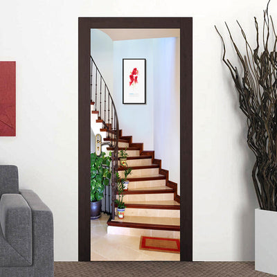 3D Mural Door Sticker Staircase Creative Art - Goods Shopi