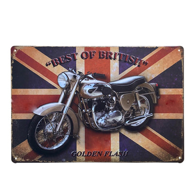 Man cave ideas Motorcycles wall Art Metal Signs