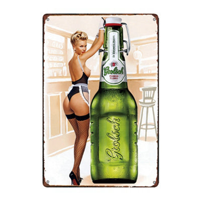 Man cave ideas metal beer bar signs - Goods Shopi