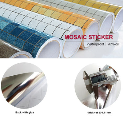 Kitchen Oil proof Stickers Mosaic Self Adhesive - Goods Shopi