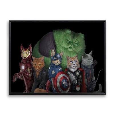 Canvas Printings Cat Super Heros Wall Art - Goods Shopi