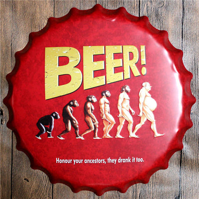 Man cave ideas Bottle Cap Wall Art Home Decor - Goods Shopi