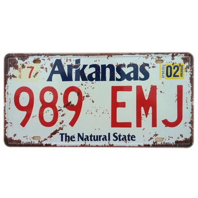 Farmhouse decor ideas Metal License Plate - Goods Shopi