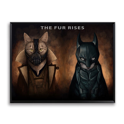 Canvas Printings Cat Super Heros Wall Art