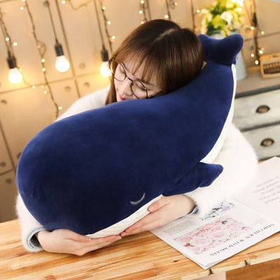 Giant stuffed animals Cuddly Whale Plush Toy - Goods Shopi