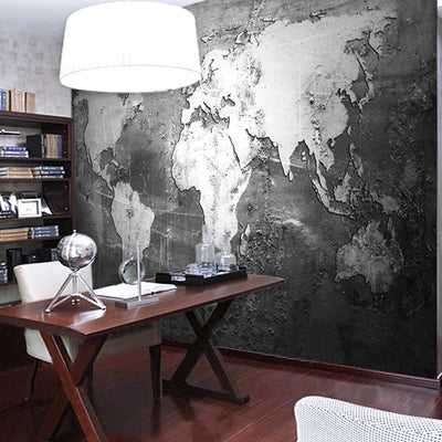 Vintage Mural Wallpaper  World Map