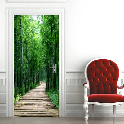 Bamboo Forest  Mural  Door Sticker - Goods Shopi