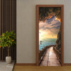 3D Mural Door Stickers Seaside Landscape - Goods Shopi