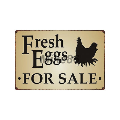 Farmhouse tin signs Chickens wall decor - Goods Shopi