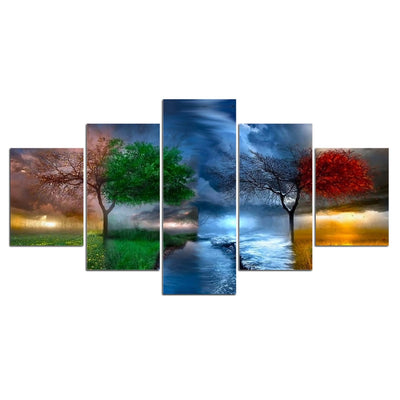 5-panel canvas print  tree scenery - Goods Shopi