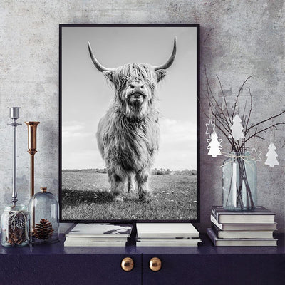 Modern farmhouse wall art Cow Painting - Goods Shopi