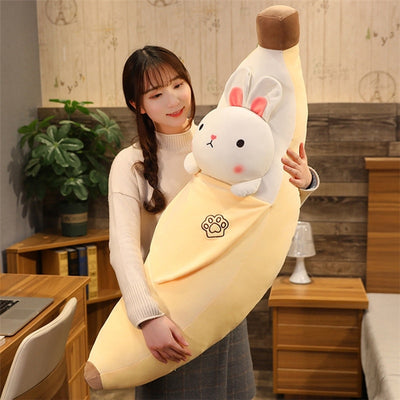Cute Giant Banana Plush Toy Stuffed Animal Soft  Pillow