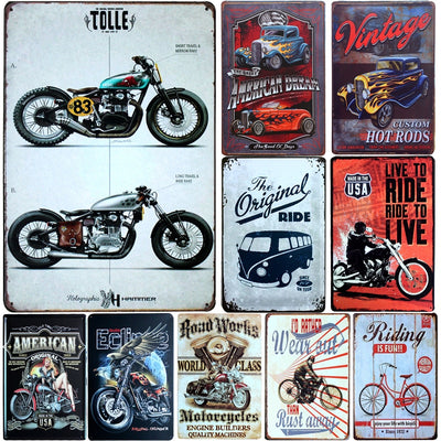 Man cave ideas Music wall Art Metal Signs