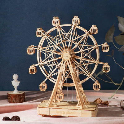 DIY Wooden Ferris Wheel Assembly Music Box  Building Kits
