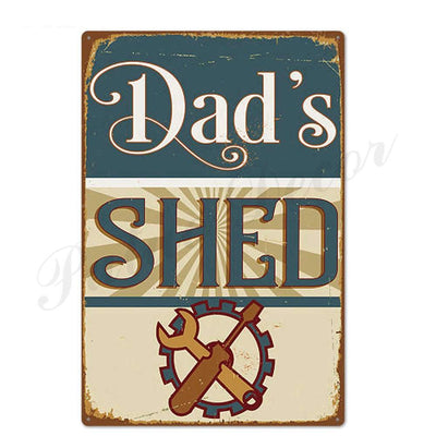 Garage Man Cave Ideas Tin Sign wall Decor - Goods Shopi