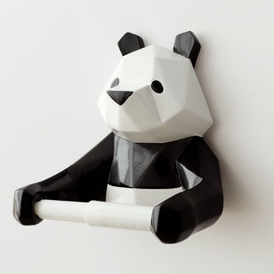 Panda Toilet paper holder Wall Mounted Bathroom Decoration