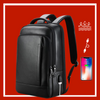 Leather Laptop Backpack Waterproof USB Charging