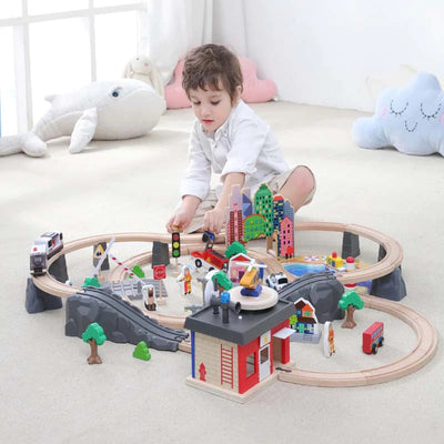 Wooden Electric Train Magnetic  Set for Kids - Goods Shopi