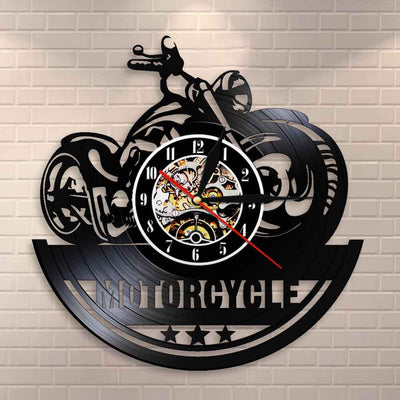 Vinyl Record Classic Motorcycle Wall Clock - Goods Shopi