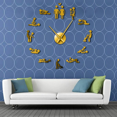 DIY Giant Wall Clock Sexy Kama Sutra - Goods Shopi