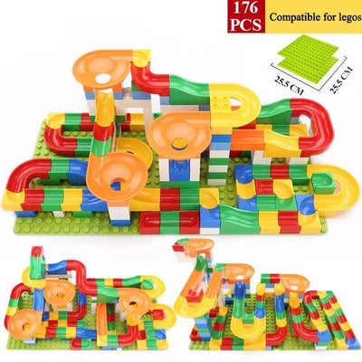 Kids Building Marble Run Blocks Construction Toys Race Track - Goods Shopi