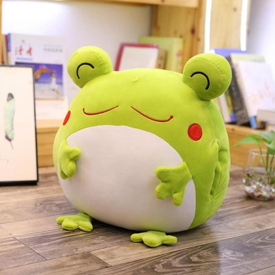 Giant Stuffed Squishy Green Frog Plush Toy