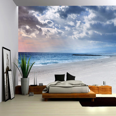 3D Mural Seaside Landscape  Wallpaper - Goods Shopi