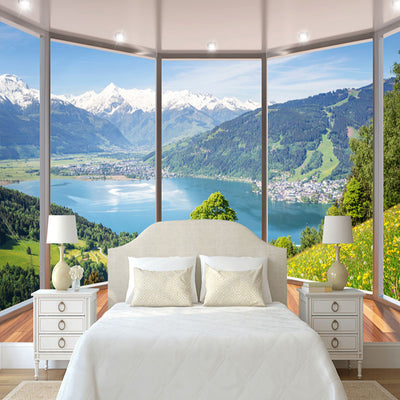 3D Wallpaper Mural Balcony Nature Landscape - Goods Shopi