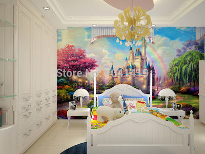 3D Wallpaper Mural Fantasy Castle - Goods Shopi