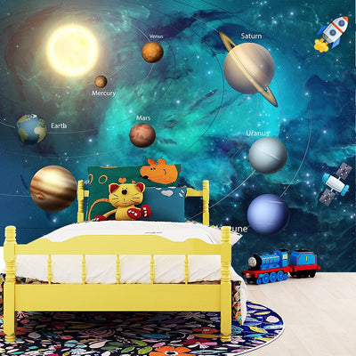 3D Wallpaper Space Universe Children Room - Goods Shopi