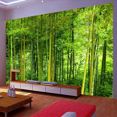 3D WallPaper Mural Nature Bamboo - Goods Shopi