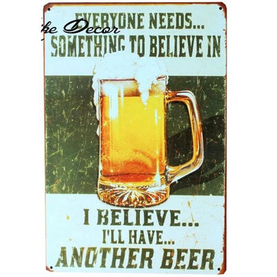 Farmhouse decor ideas vintage beer signs - Goods Shopi