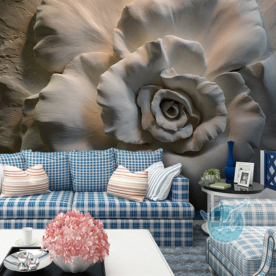3D Wallpaper Mural Rose Flowers Abstract Art - Goods Shopi