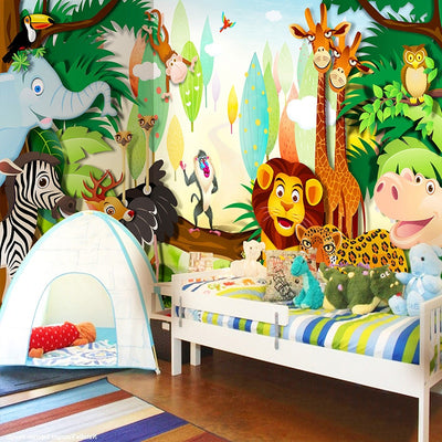 Children's Room Mural Wallpaper Cartoon - Goods Shopi