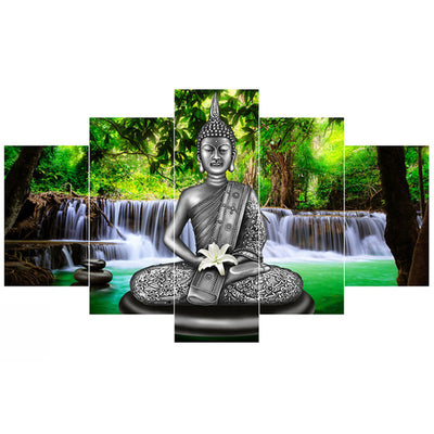 Buddha Posters  Canvas 5 Panels - Goods Shopi
