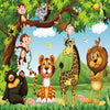 Jungle Animal Kids Bedroom 3D Mural Wallpaper - Goods Shopi